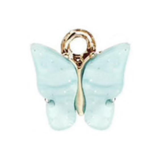 Bedel vlinder azure goud