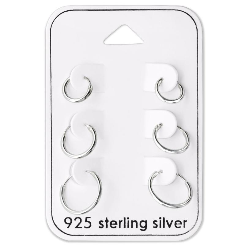 Hoops set - echt zilver