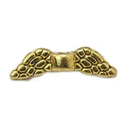 Tussenstuk kraal goud vleugels mini