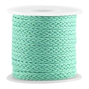 Geweven waxkoord turquoise groen