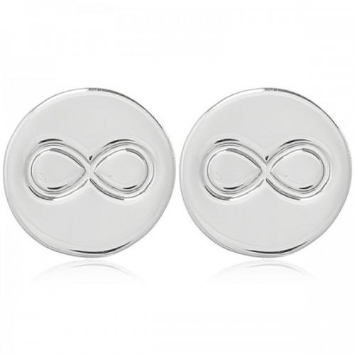 Oorbellen infinity zilver