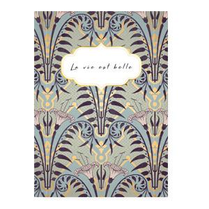 "Sieraden kaartjes ""La vie est belle"" Blue"