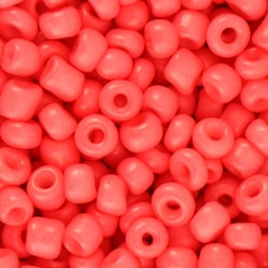 Rocailles 4mm Coral red