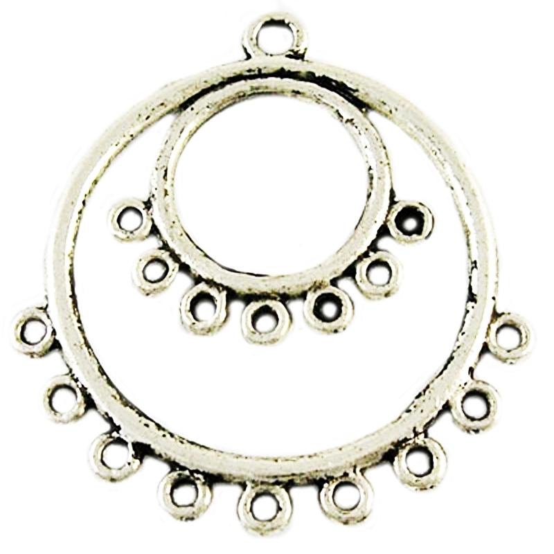 Connector hanger ogen zilver