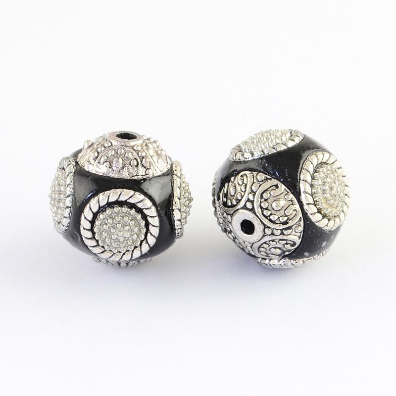 Indonesian bead black 15mm