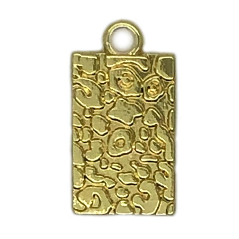 Bedel tag leopard pattern goud