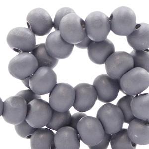 Houten kraal urban grey 6mm