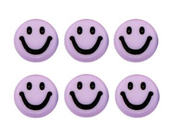 Letterkralen van acryl smiley lila