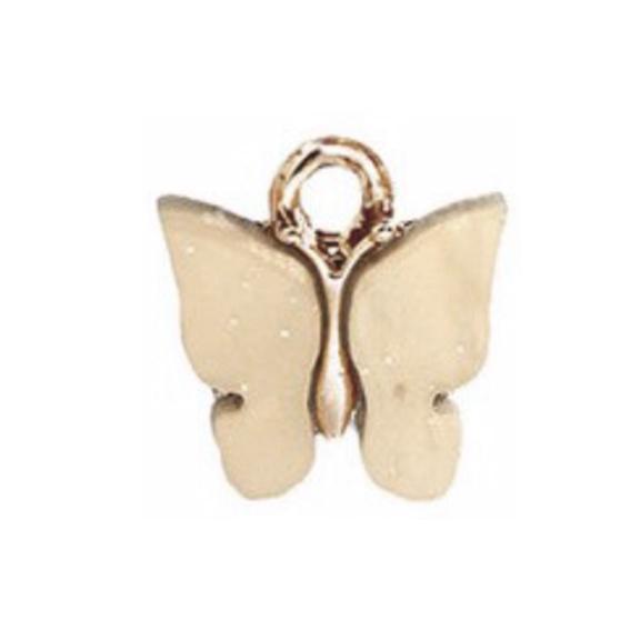 Bedel vlinder beige goud