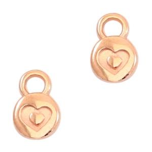 Bedel heart rosé goud (DQ)