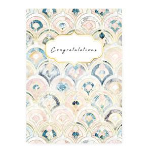 "Sieraden kaartjes ""Congratulations"" Rose blue"