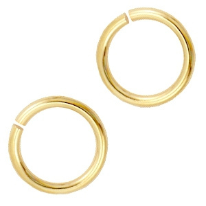 Buigring/jumpring 8mm goud
