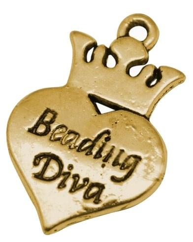 Charme 'beading diva' gold (bulk)