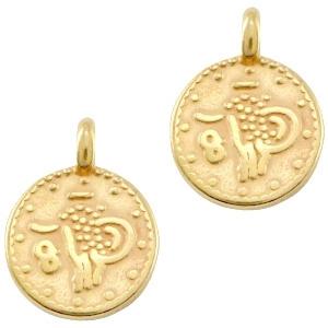 Bedel DQ ethnic rond 12mm Goud (nikkelvrij)
