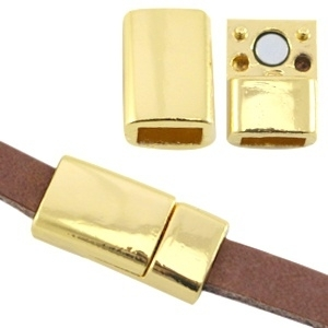 Basic quality metalen magneetslot 6mm goud