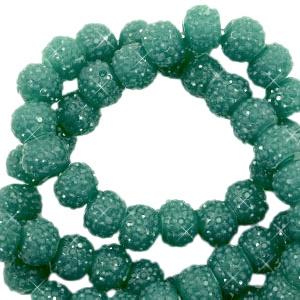Sparkling beads 6mm vintage green