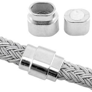 Magneetslot Ø10x6.7mm antiek zilver