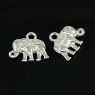 Bedel olifant oud zilver (bulk)