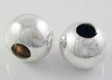 Metall perlen silber 8mm