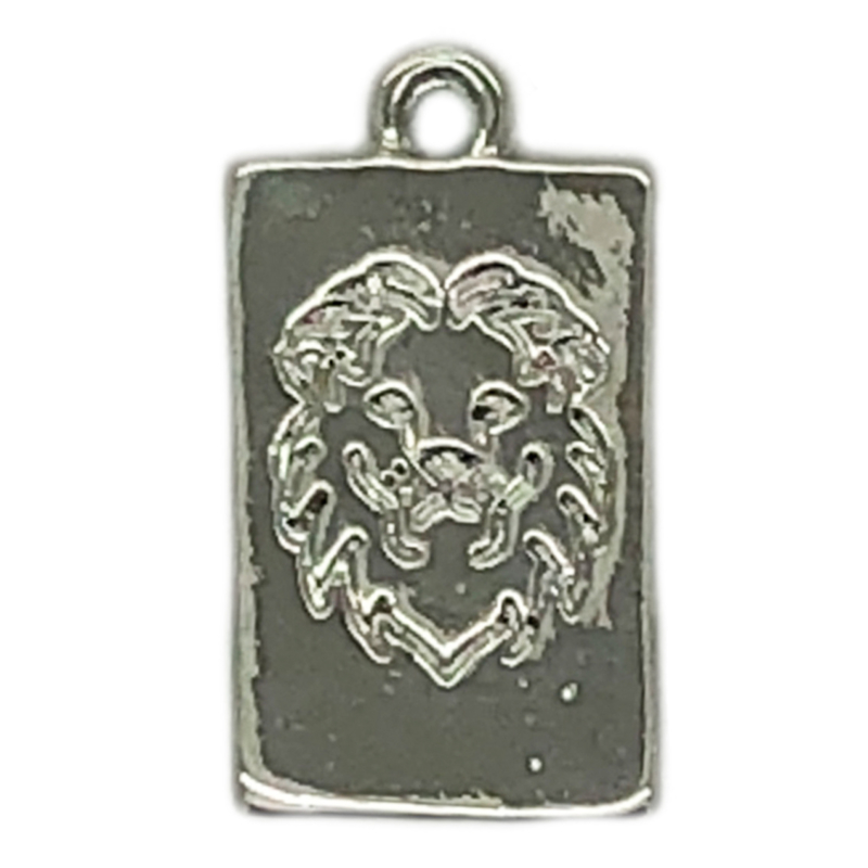 Bedel tag lion zilver