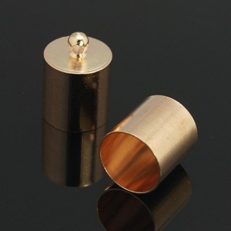 Eindkap rose goud 5mm