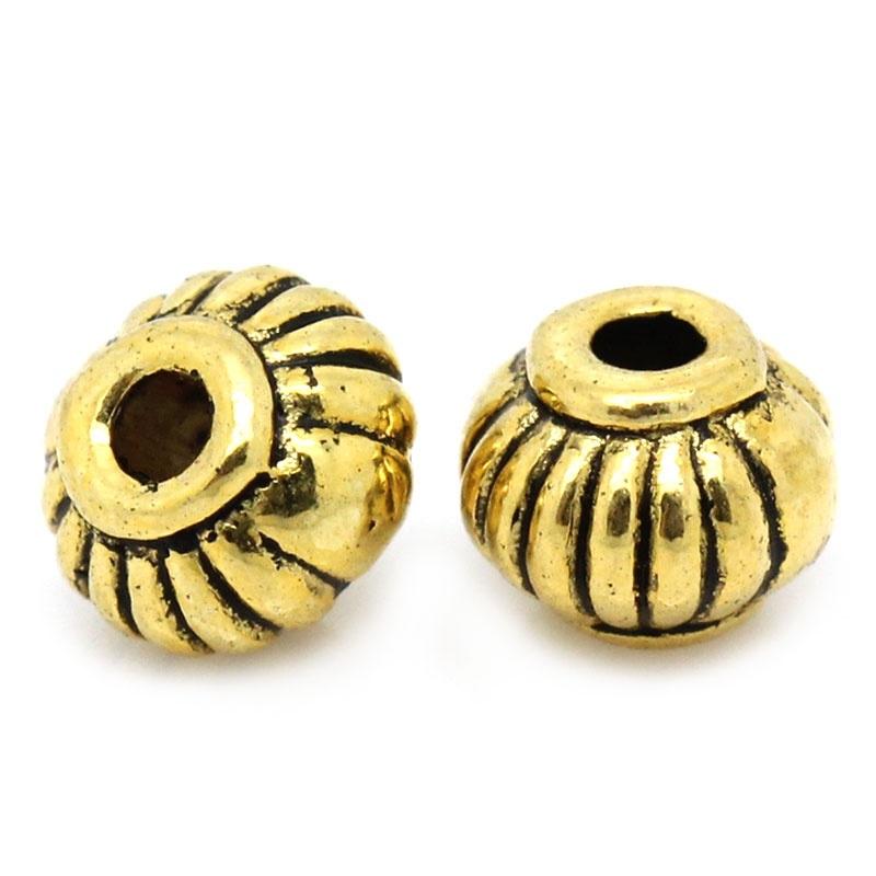 Metalen kraal ball goud 4mm