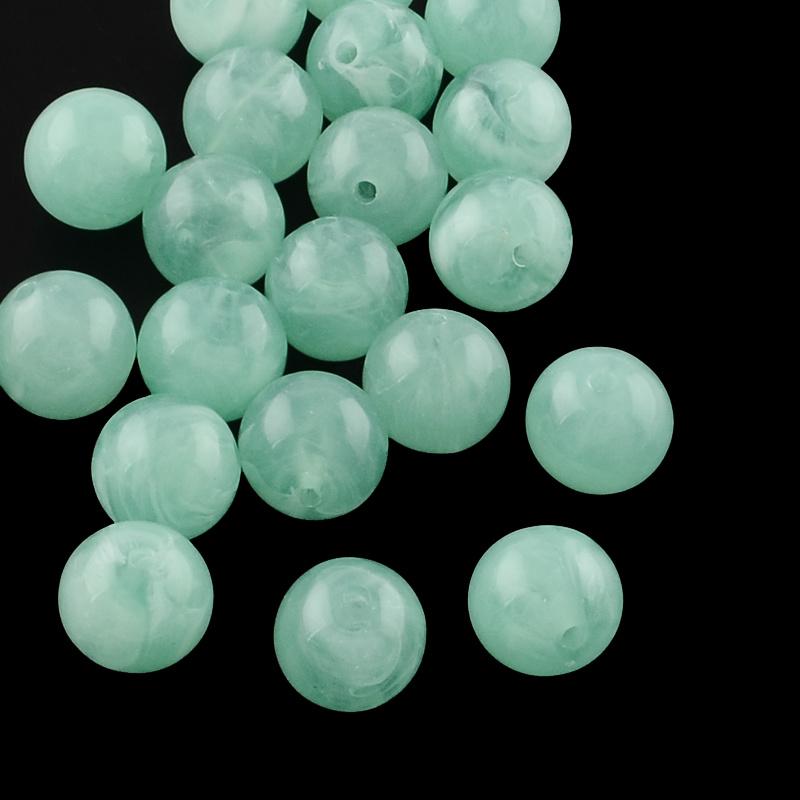 Acryl perlen gemstone look mint 6mm