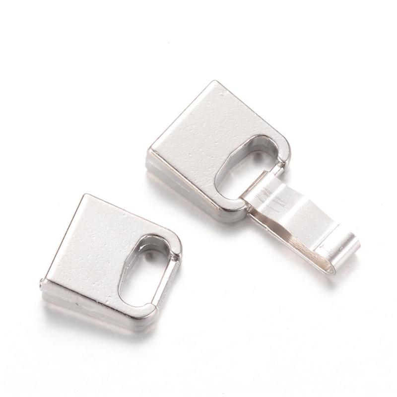 Sluiting clip 10x2mm zilver