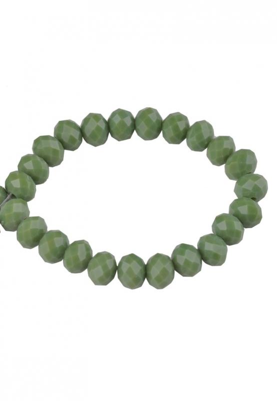 Glasperlen facette olifgreen 6x5mm