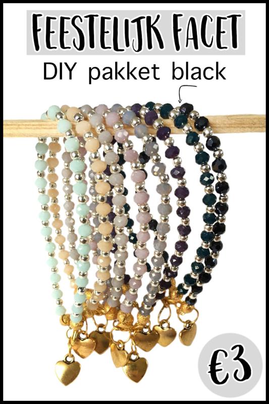 DIY pakket feestelijk facet black