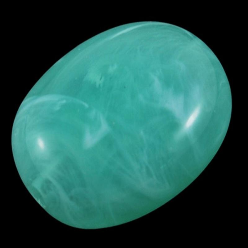 Acryl kraal gemstone look mint