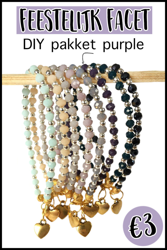 DIY paket facet purple