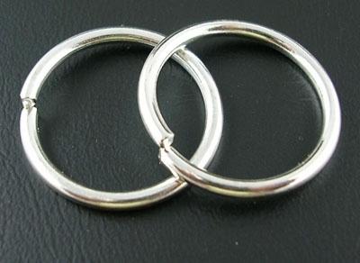 Buigring zilver 20mm
