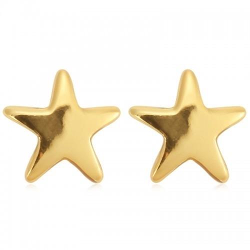 Oorbellen stars goud