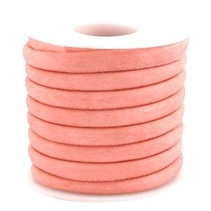 Gestikt imitatie suede rose peach