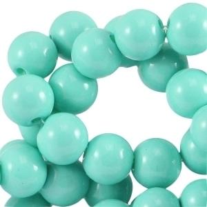 Glaskraal opaque turquoise green 6mm