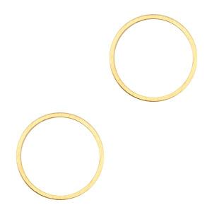 Onderdelen DQ metaal dichte ring 15mm Goud (nikkelvrij)