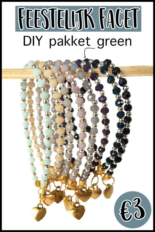 DIY pakket feestelijk facet green
