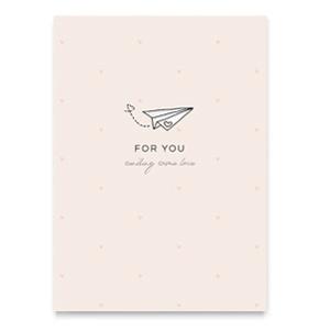 "Sieraden kaartjes ""For you"" Roze"