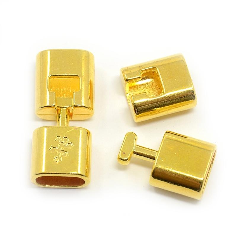 Snap lock goud 11x6mm