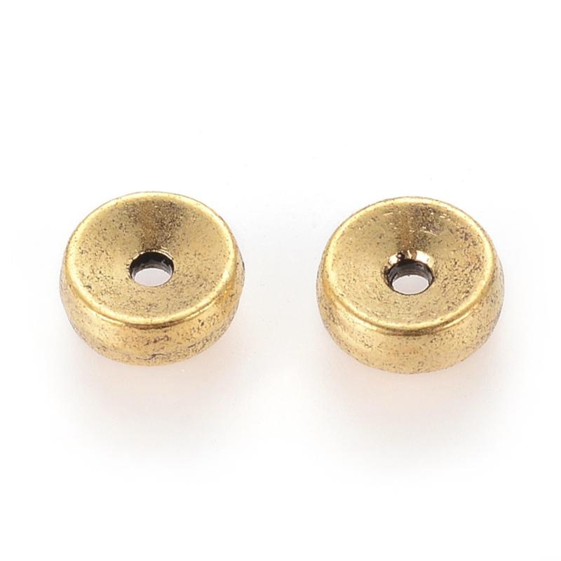 Kraal metaal disc 5x2mm goud