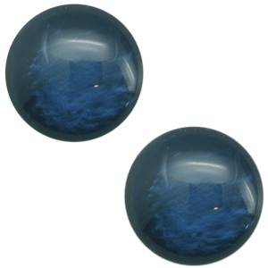 Polaris cabochon 20mm Mosso shiny Peacock blue