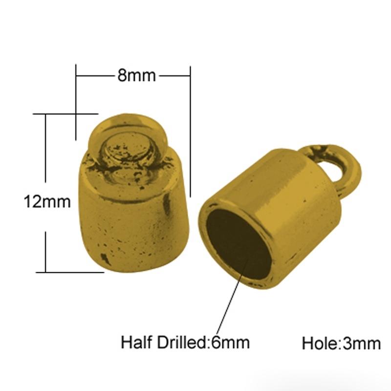 Eindkapjes goud 6mm (bulk)
