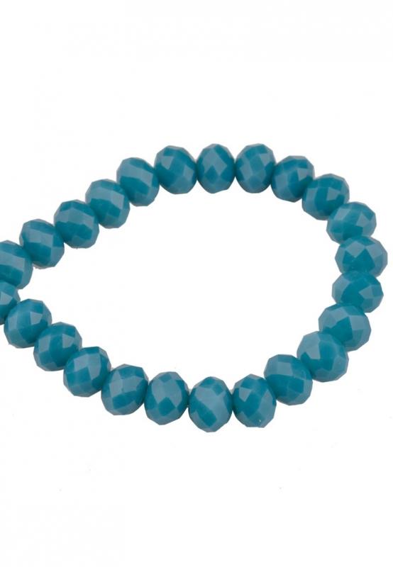 Glaskralen facet azuurblauw 6x5mm