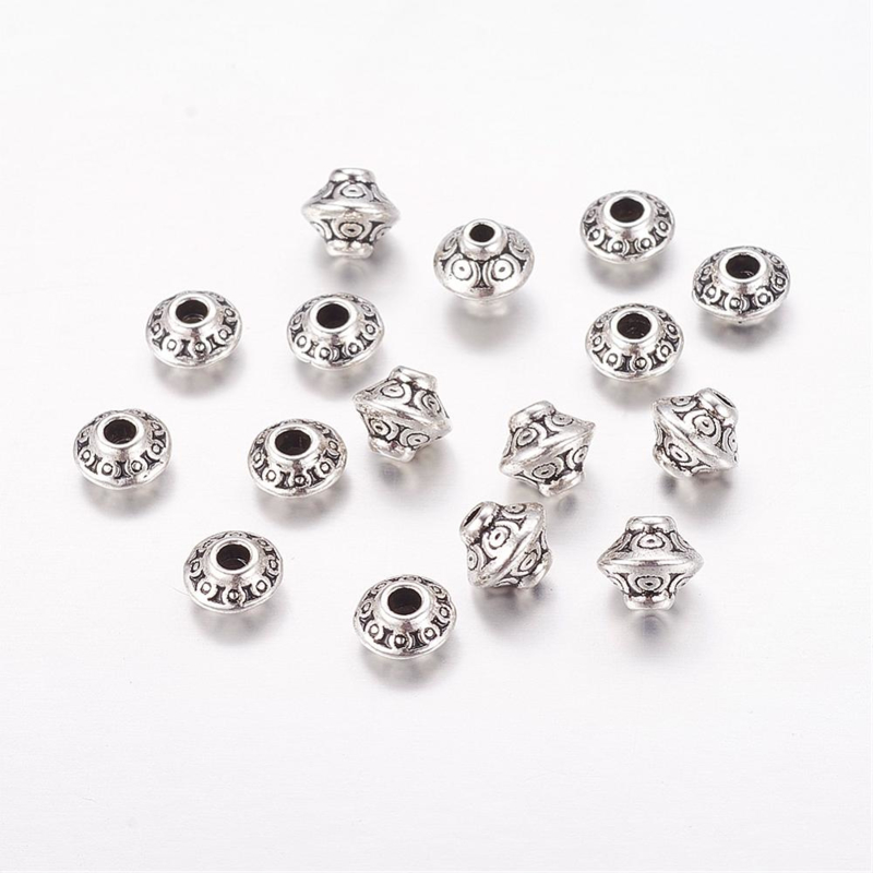 Metalen spacer beads mix zilver