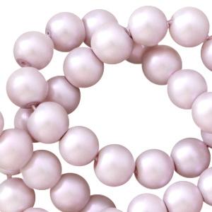 Glasparels licht lila paars met pearl shine 8mm
