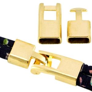 Haaksluiting Ø10.2x5.2mm goud