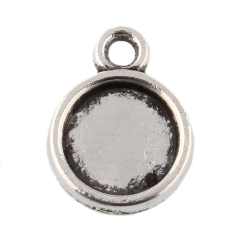 Cabochon setting zilver 10mm