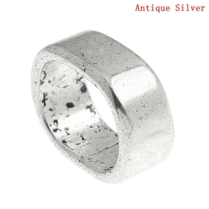 Slider kraal egaal zilver ovaal
