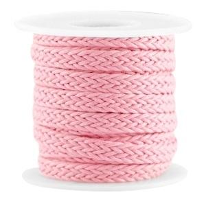 Geweven waxkoord pink